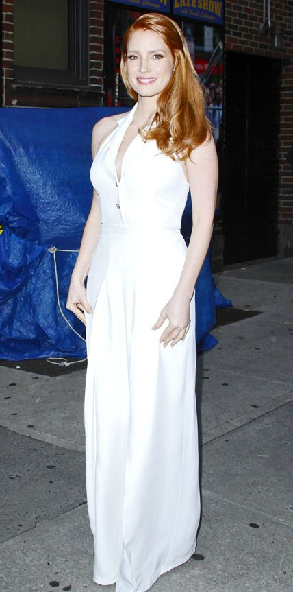 Look of the Day - October 17, 2014 - Jessica Chastain in Temperley London from #InStyle