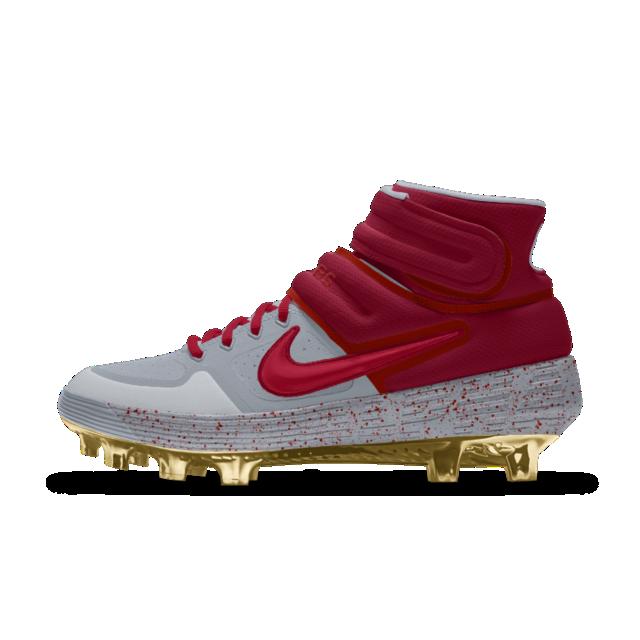 df86021b98e The Nike Alpha Huarache Elite Mid Premium By You Baseball Cleat ...