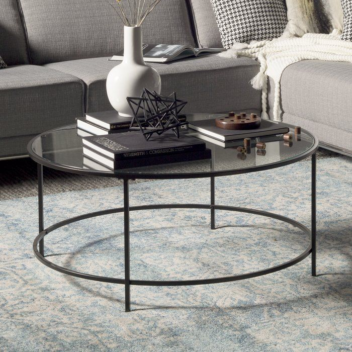 Beliveau Coffee Table Round glass coffee table, Coffee