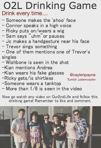 LMAO O2L Drinking Game! (let's make it apple juice or something)