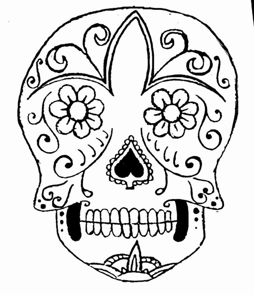 sugar skull | Sugar skull coloring page | patterns | Pinterest