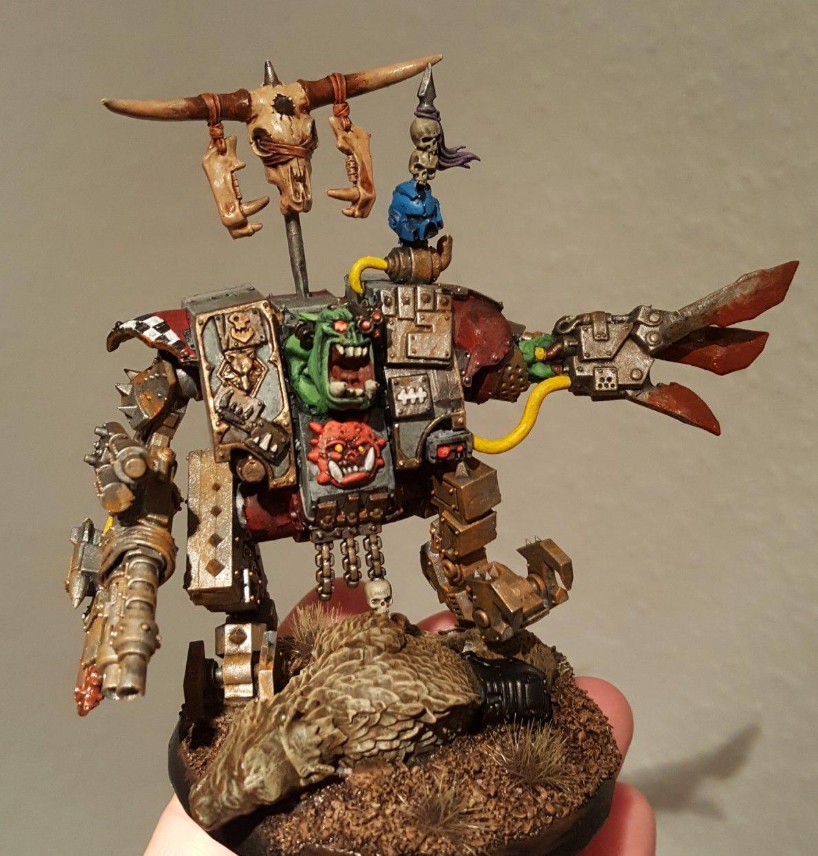 Ork Warboss Conversion 'Spacewolf-Cybot-Mega-Armour' | orks | Ork