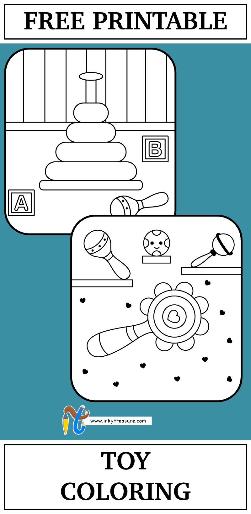 We have 2 Toys coloring Worksheet and these are very simple coloring ...