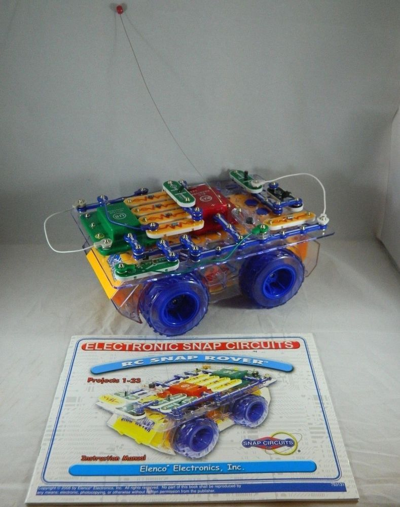 Electronics Snap Circuits Rc Rover Manual Parts For Add On Or Replacement Car Elenco