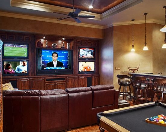 Walls With Multiple Tvs Google Search Small Game Rooms Small