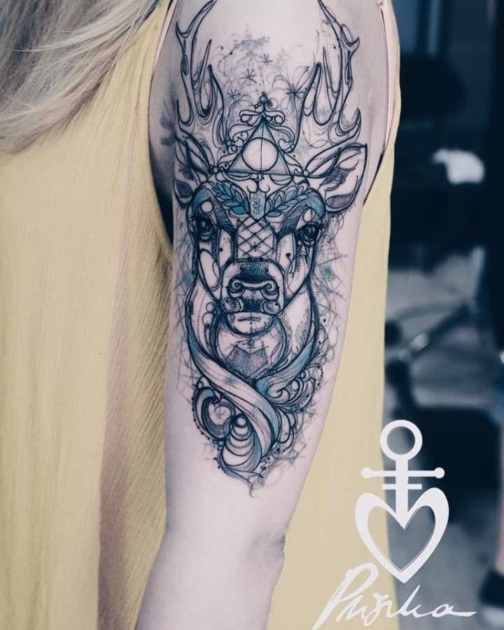 Harry Potter Patronus Tattoo By Pliszka Patronus Tattoo Ink Tattoo Harry Potter Tattoo Sleeve