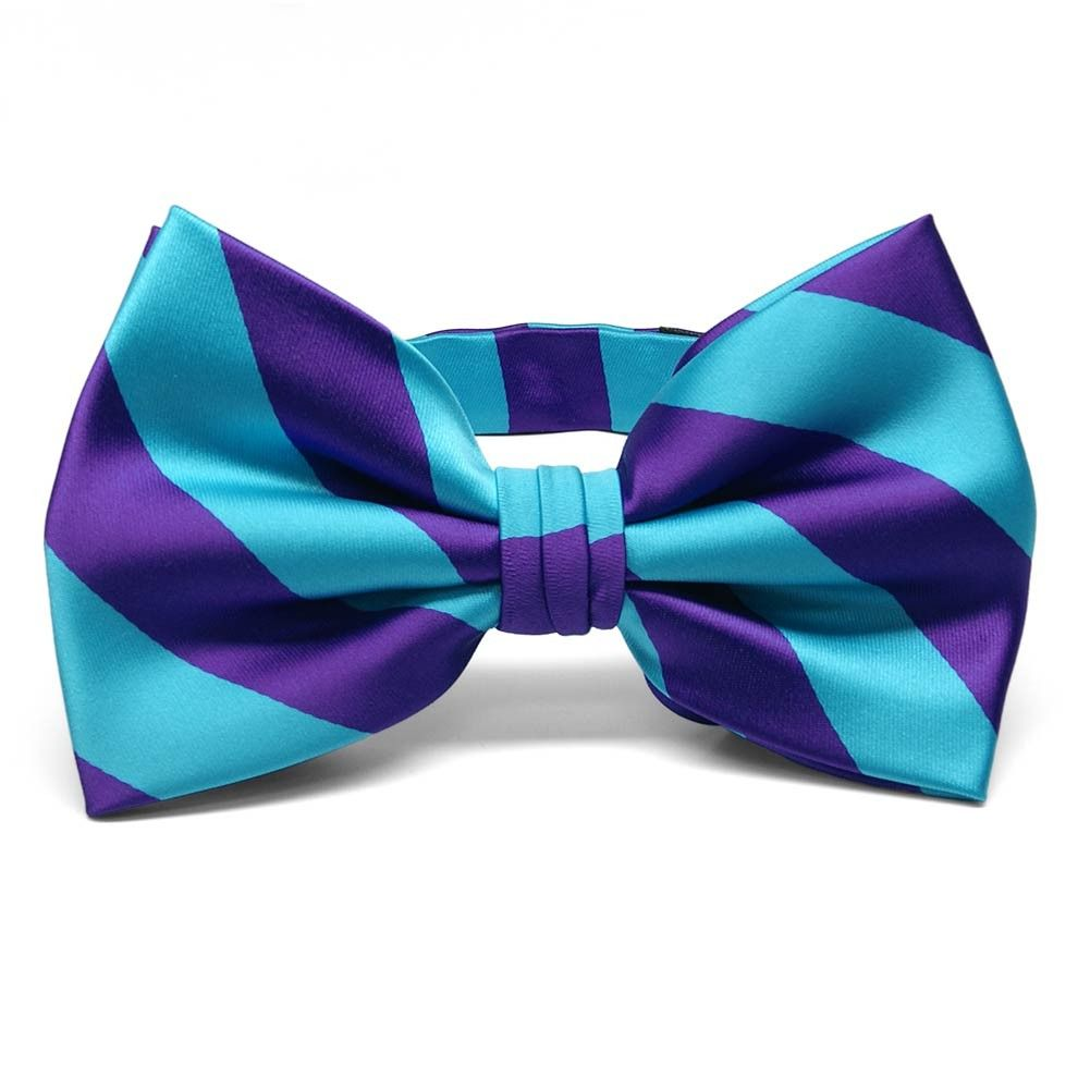 purple and turquoise striped bow tie wedding ideas