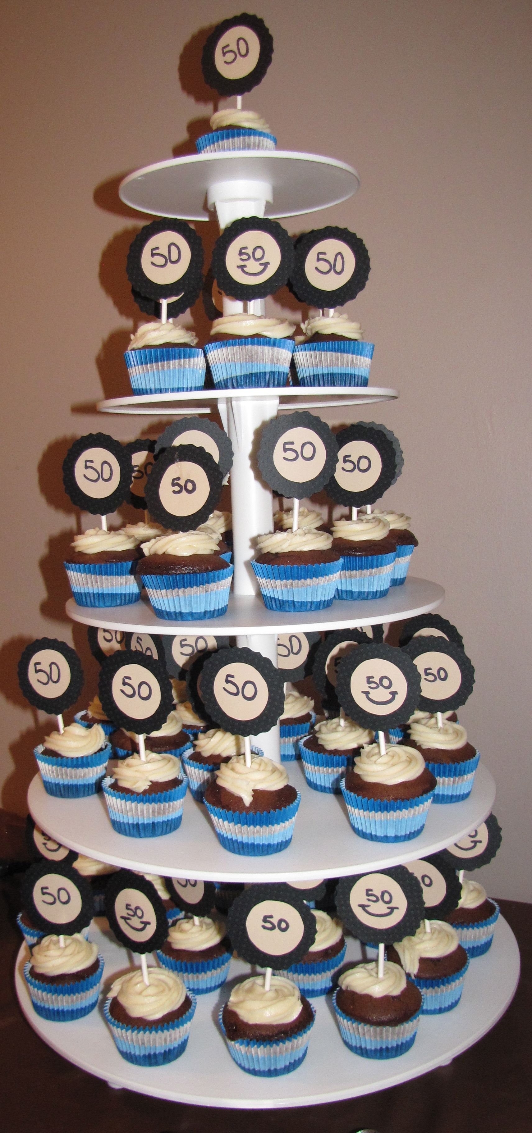 50th Birthday Party cupcakes Party Ideas Pinterest 50