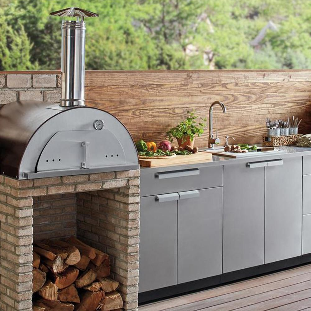 Outdoor Kitchen Discover Necessories Nonno Peppe 32 In Wood Burning Outdoor Pizza Oven In Hamm Outdoor Kitchen Design Outdoor Pizza Outdoor Kitchen Appliances