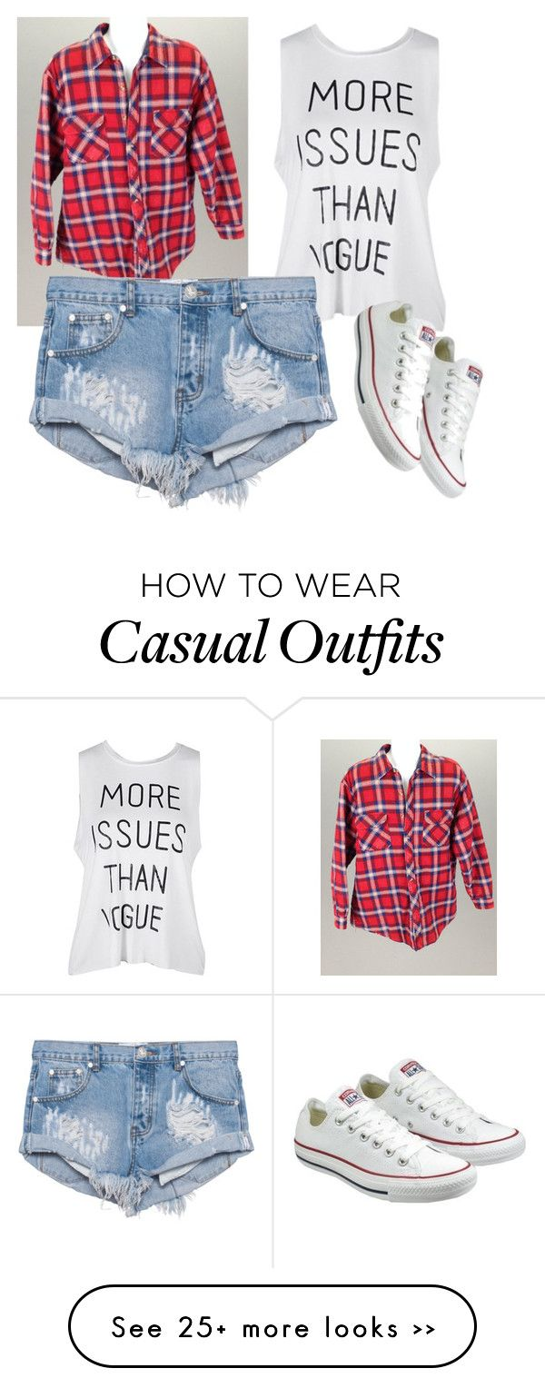"""casual"" by ishab42 on Polyvore featuring One Teaspoon and Converse"