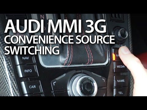 How to enable automatic folding mirrors in Audi MMI 3G (A1 A4 A5 A6