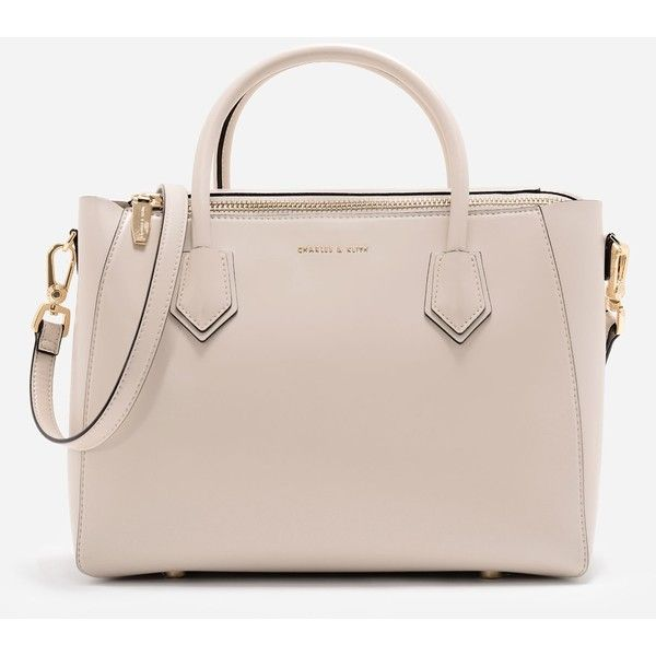 Charles Keith Structured Top Handle Bag 1 245 Egp Liked On Polyvore Featuring Bags Handbags Zip Polyurethane