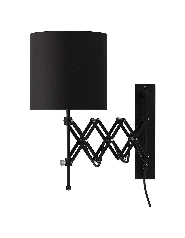 modernluci wall sconce led wall light modern plug in bedroom lamp dark grey - - amazon | led