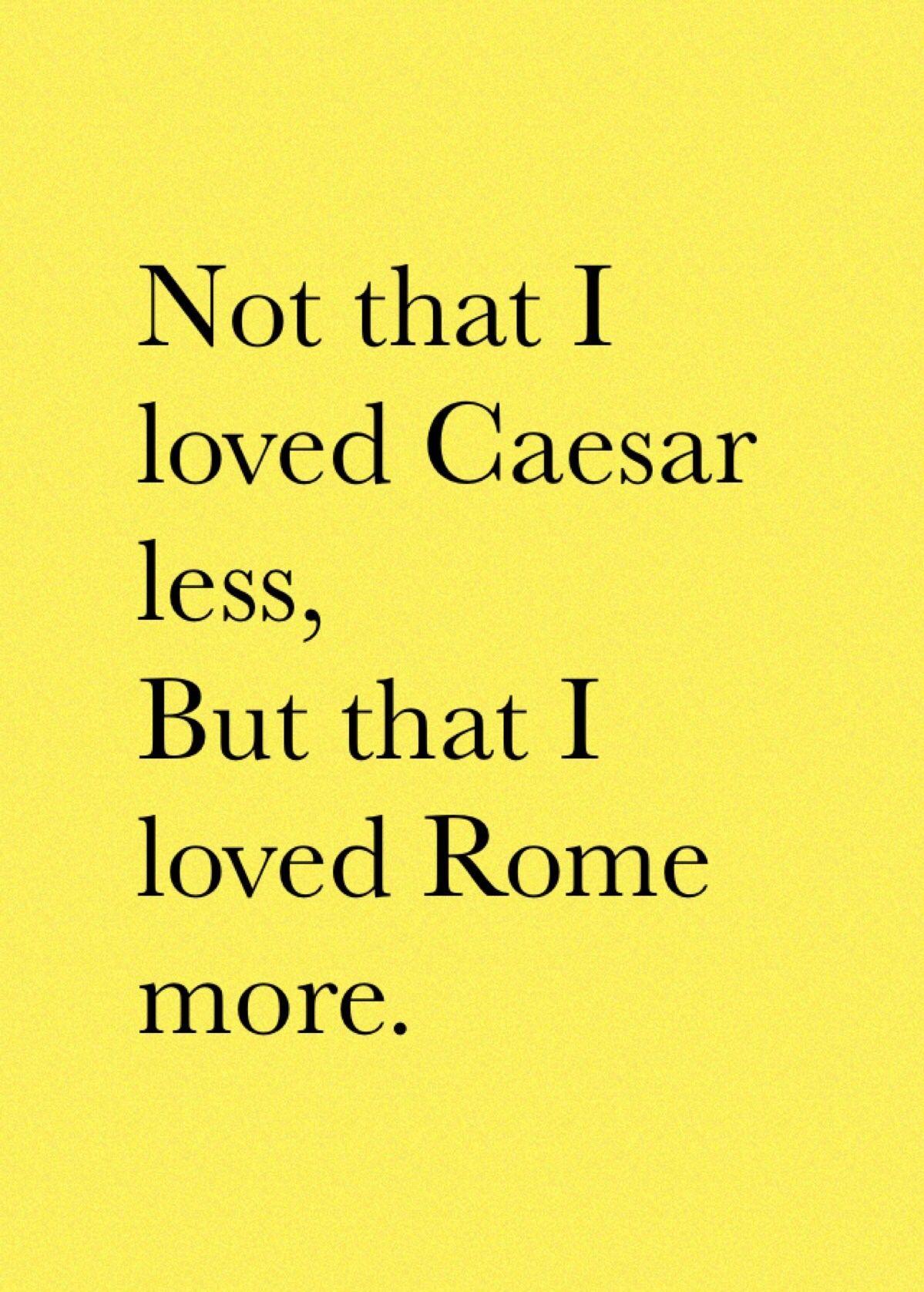 Juliu Caesar Shakespeare Quote Mark Antony From Plays No Fear Hamlet Act 1 Scene 3