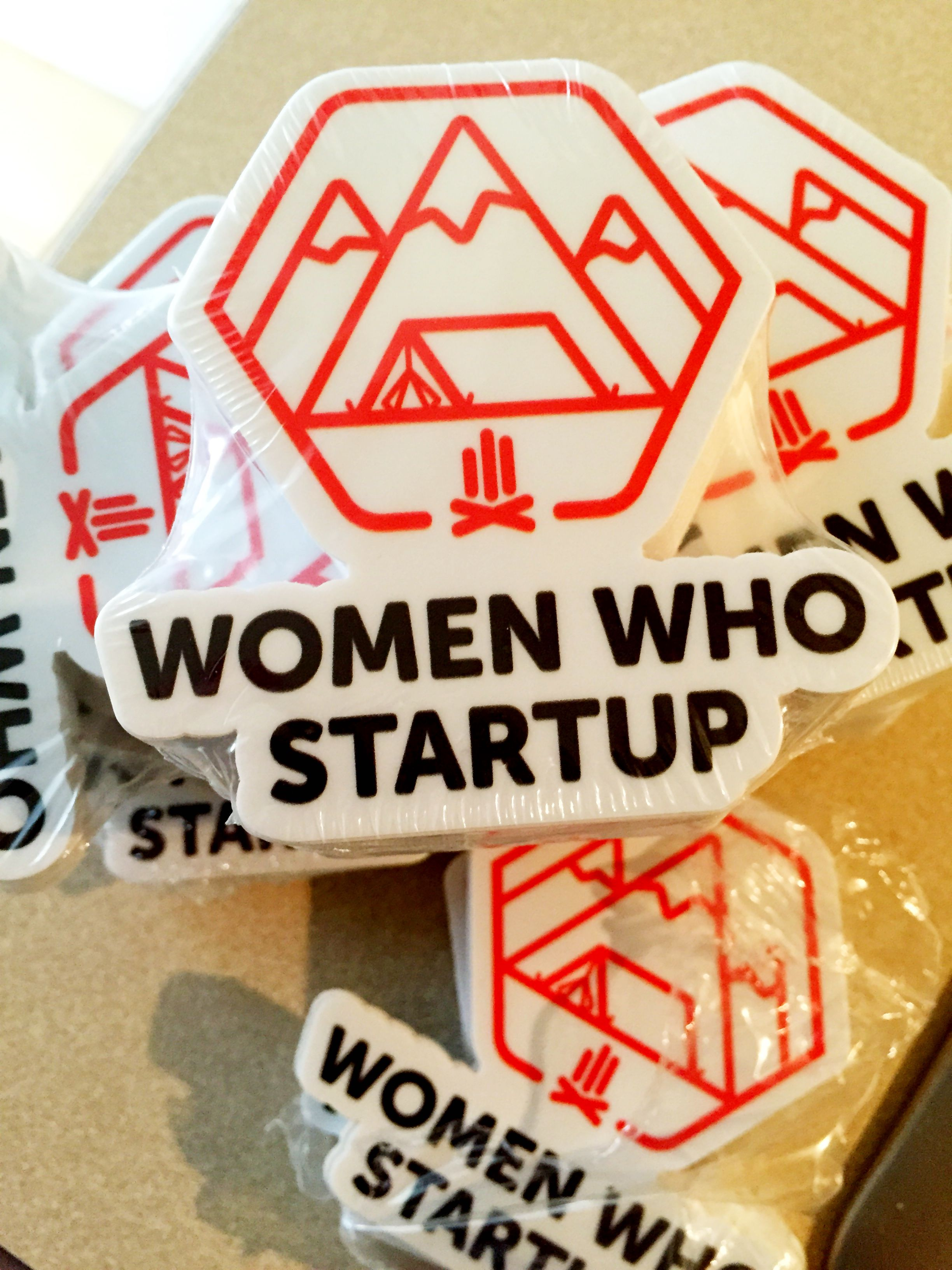 Ordered another batch of women who startup stickers from our in kind sponsor sticker mule