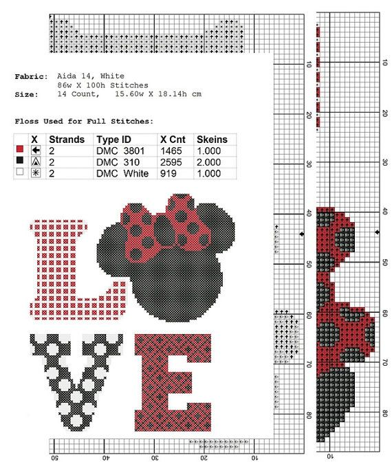disney cross stitch pattern Love, PDF Pattern Threads, funny cross ...