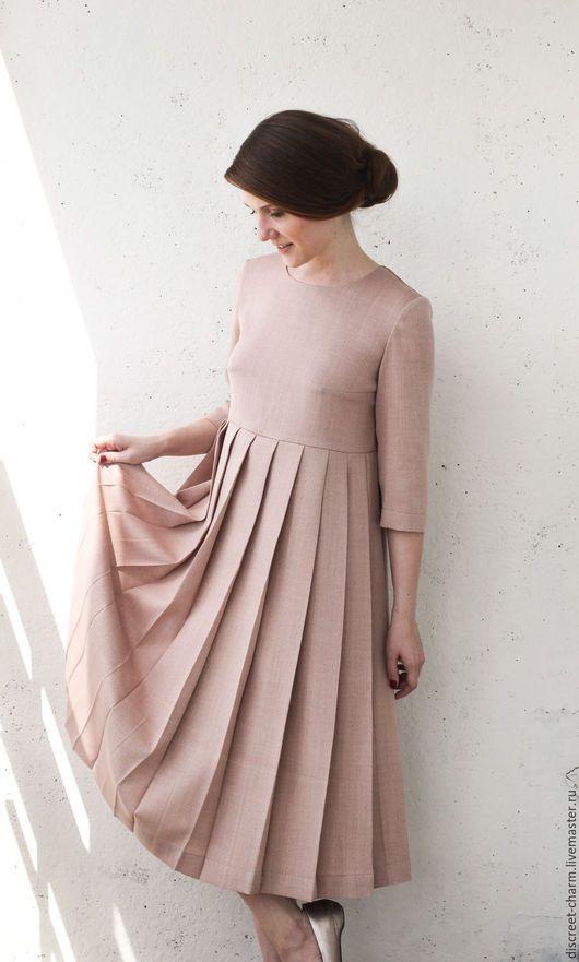 a4bc59fb83e Платья ручной работы. Ярмарка Мастеров - ручная работа. Купить  Пыльно-розовое шерстяное платье