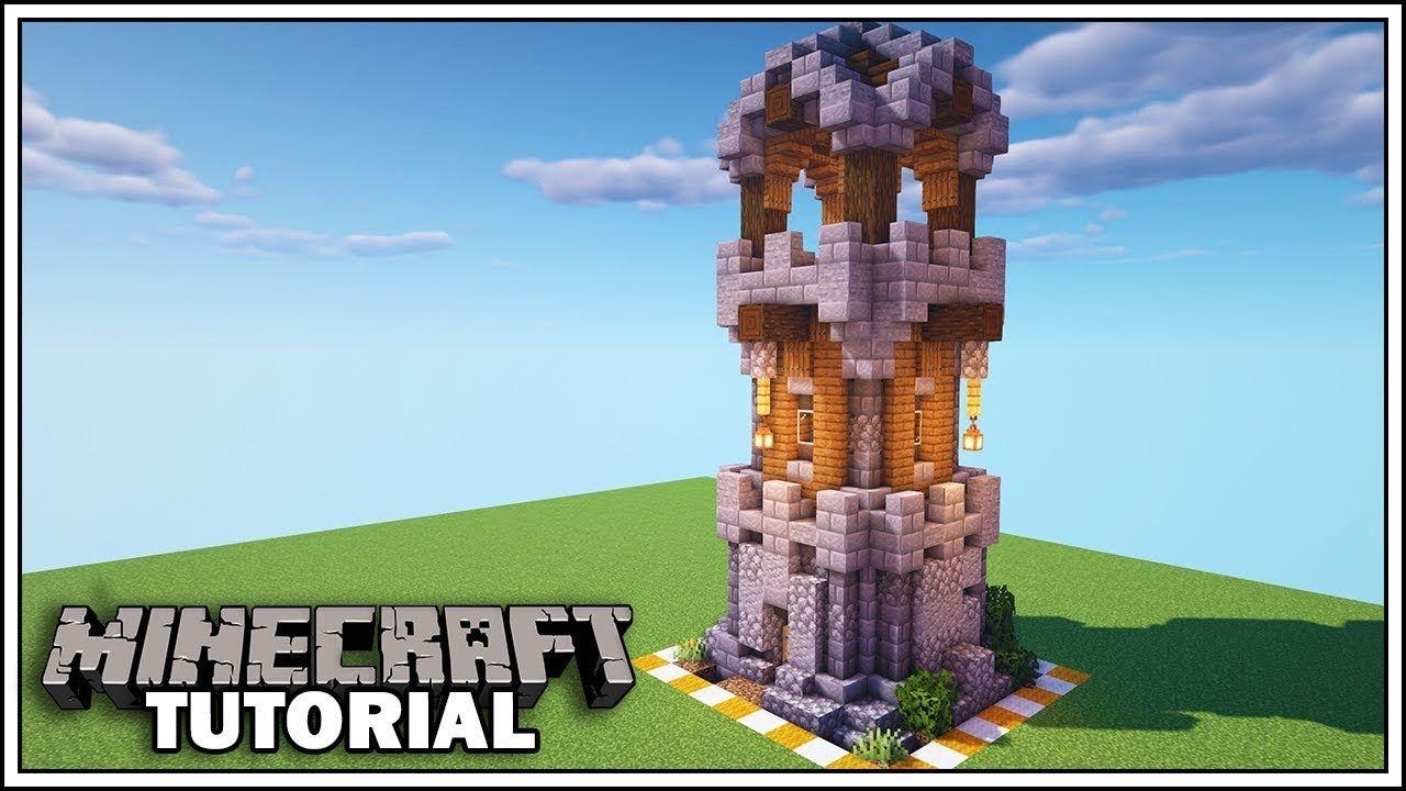 minecraft castle tower tutorial