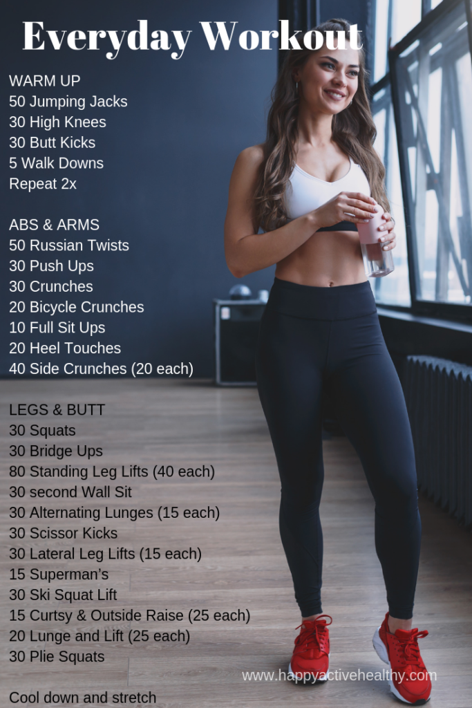 Full Body Workouts - Daily At Home Workout Challenges - Happy Active Healthy