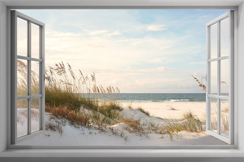Fabulous Tuinposter 'Kozijn ' | Dream Life #living in 2019 - Beach interior #HU63