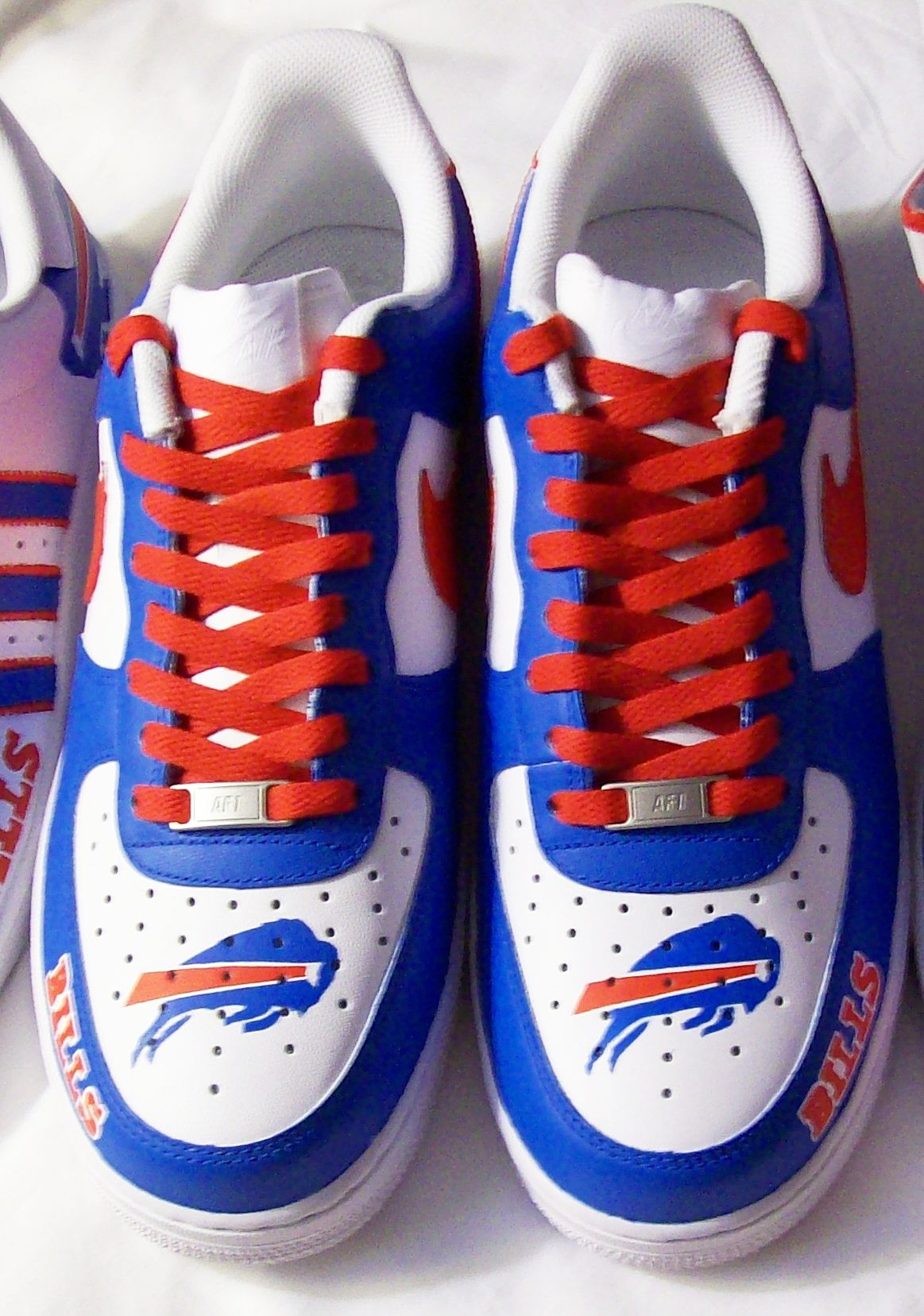 Custom Buffalo Bills Nike AF1 mid top | Tekneek Customs ...