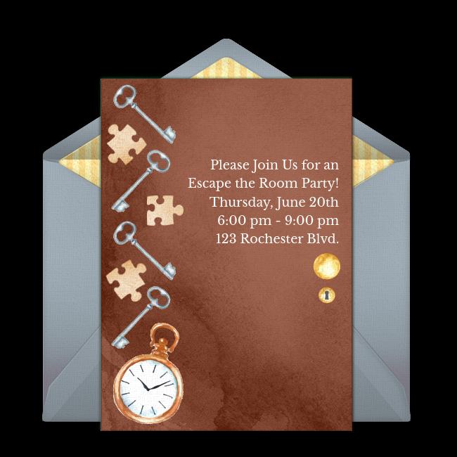 Free Escape The Room Invitations Escape Room Party Invite Template Birthday Party At Home