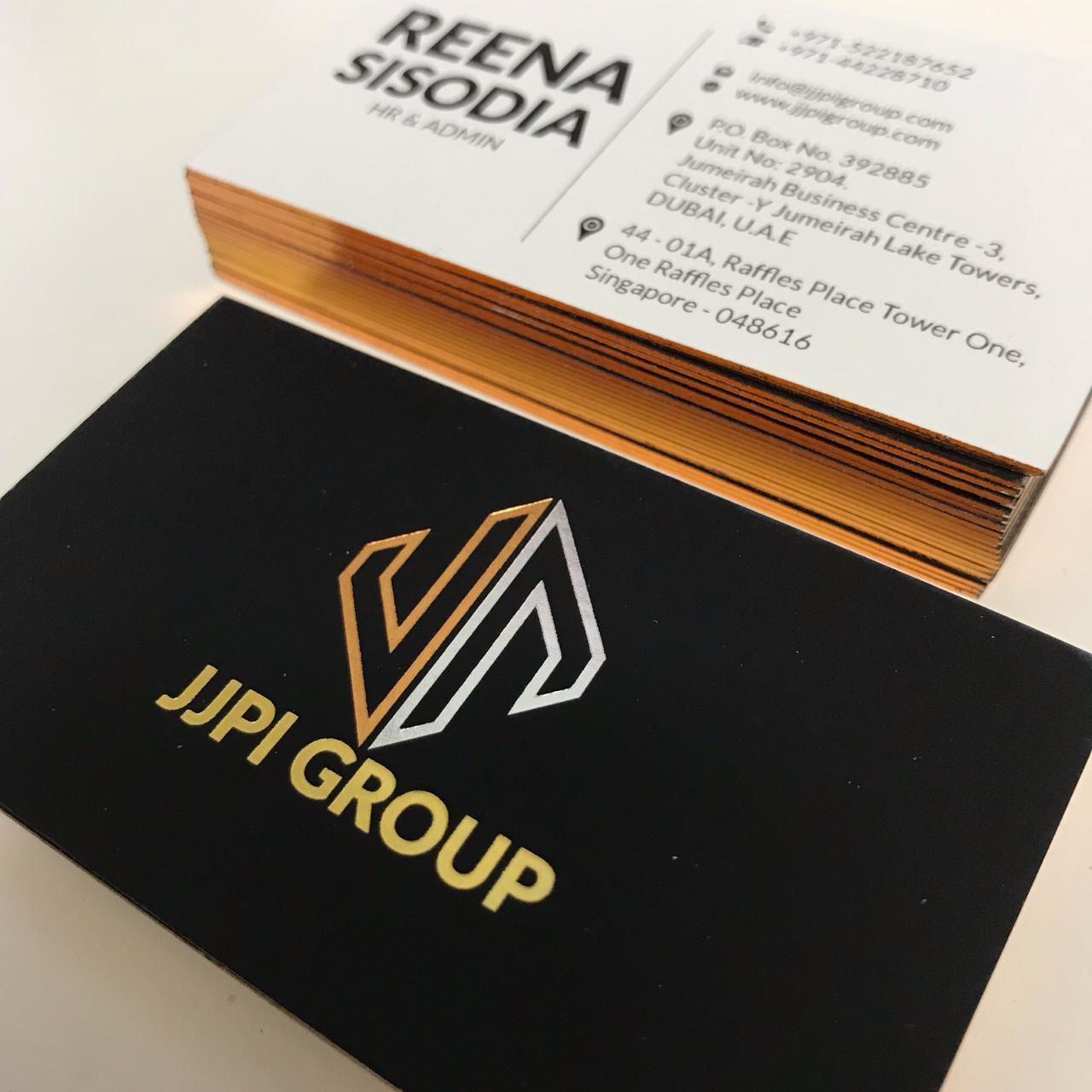 3 Colors Business Card Business Card Inspiration Custom Business Cards Luxury Business Cards