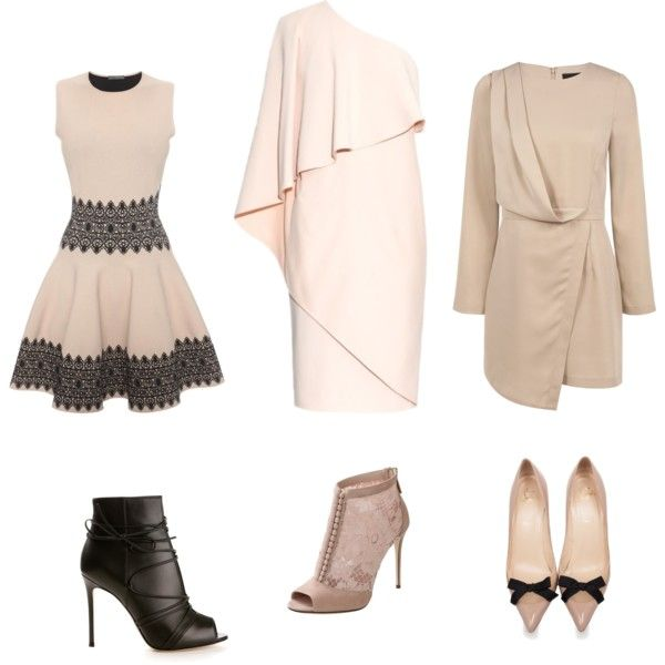 Neutral chic by scharf-lara on Polyvore featuring polyvore, Mode, style, Givenchy, Blaque Label, Alexander McQueen, Gianvito Rossi, Christian Louboutin and Dolce&Gabbana