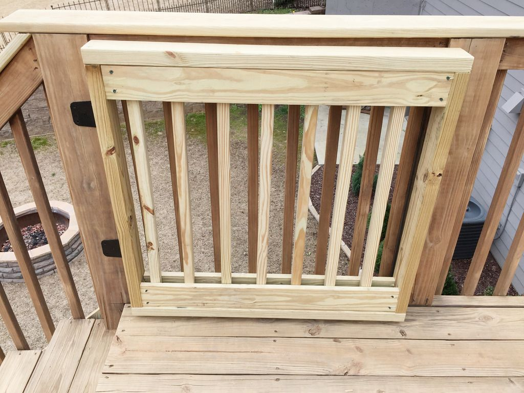 Baby gate building deck gate baby gates building a gate