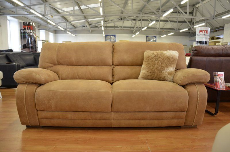 Living Antares 2 And 3 Seater Sofas In Premium Suede Leather