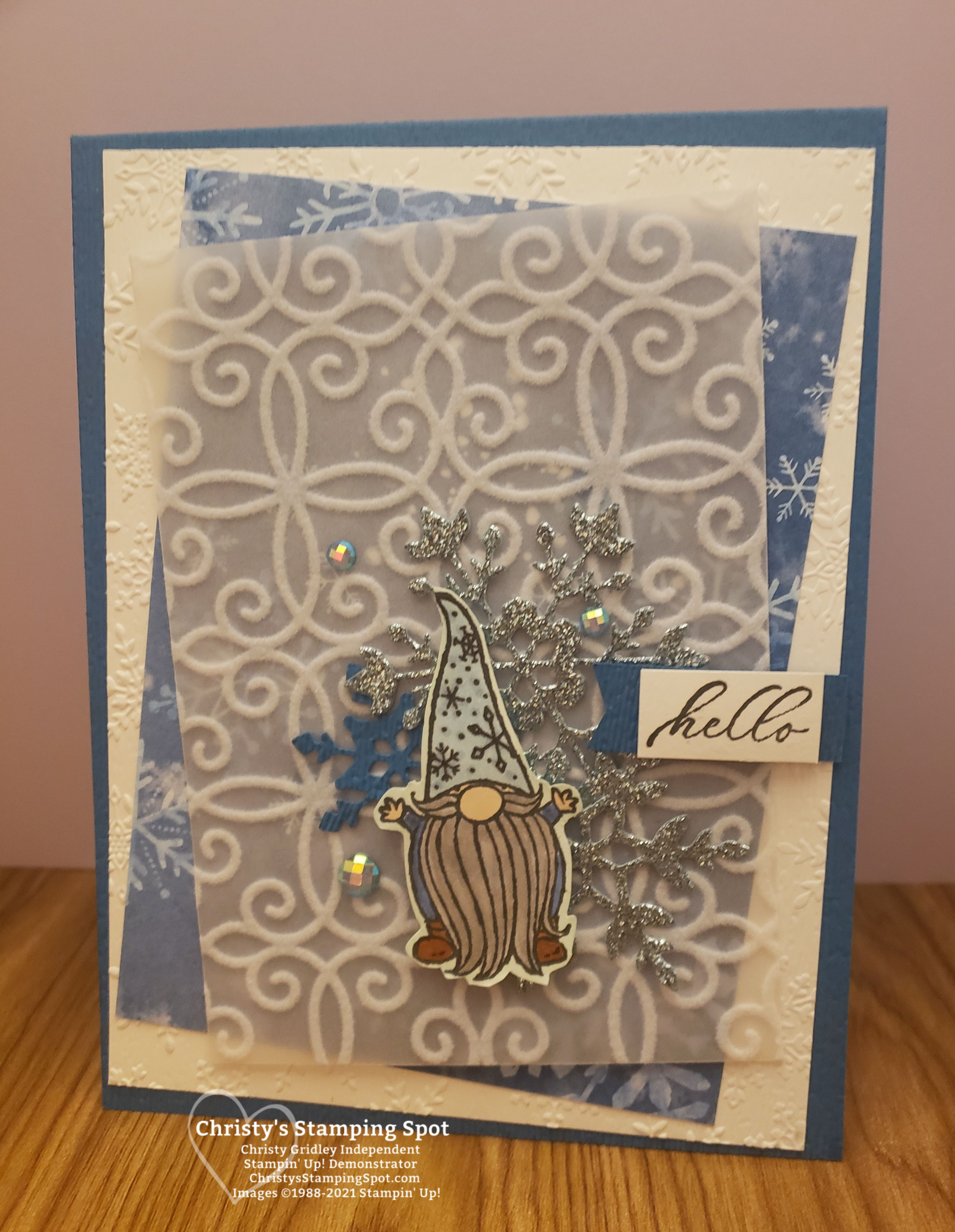 Handmade Cards Using 2020 Christmas Dsp From Stampin Up Stampin' Up! Gnome & Snowflake Splendor Sneak Peek in 2020