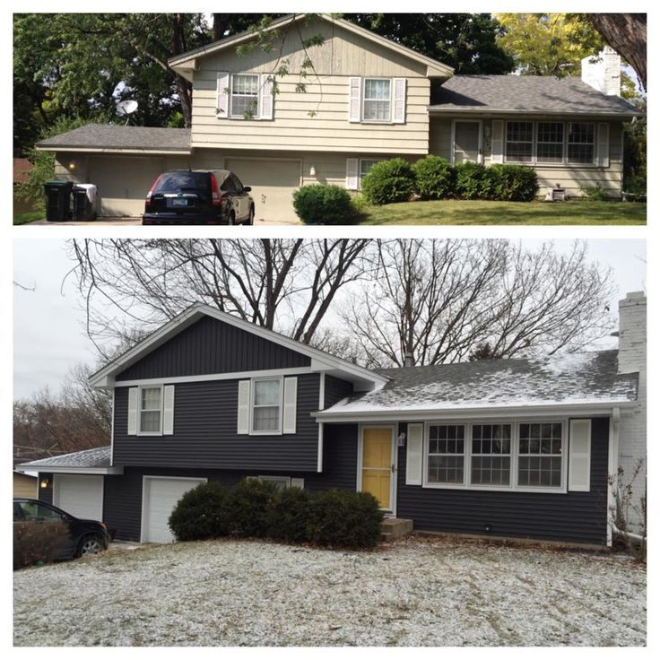 Image Result For Split Level House No Shutters House Paint Exterior Home Exterior Makeover House Exterior