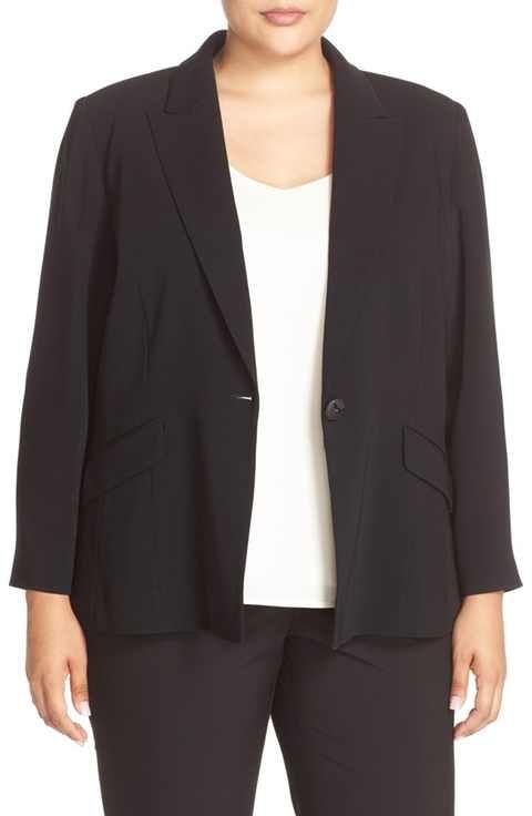 67b749f232c Louben One-Button Suit Jacket (Plus Size)