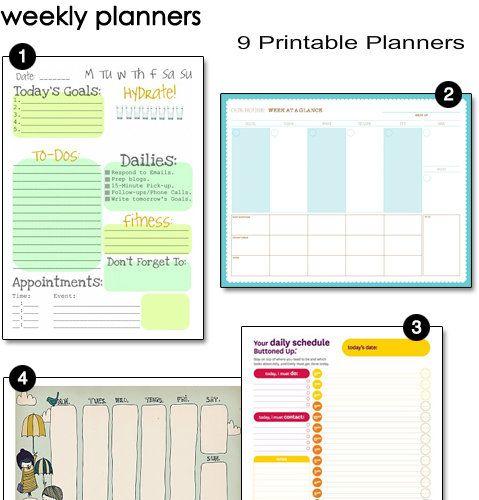 9 Printable Weekly Planners - #printable #planner #organize - free printable weekly planner