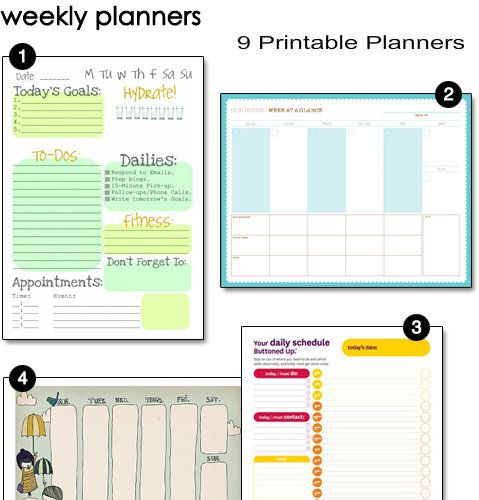 Printable Weekly Planners  Printable Planner Organize