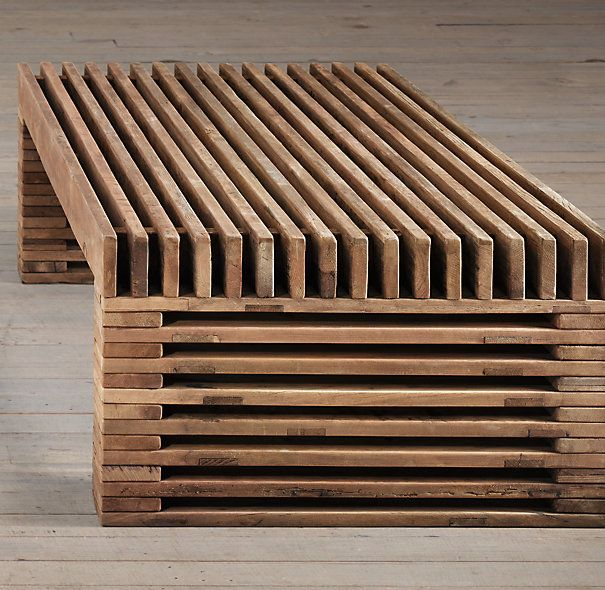 """Reclaimed Timber Slat Coffee Table 51""""W x 36""""D x 17""""H 68""""W x 40""""D x 16""""H Can anything such as a glass of wine be put on???"""