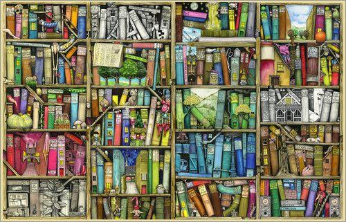Bücherregal gemalt  Colin Thompson - Bücherregal   Bücher/Books.....   Pinterest ...