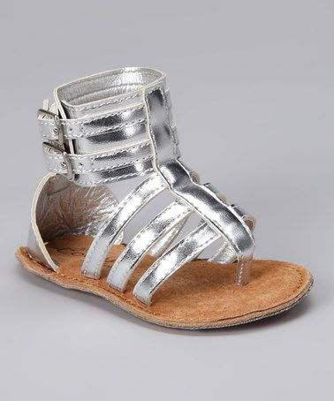 Angels Couture Silver Double Buckle Gladiator Sandal by Tiny Feet: Infant Shoes