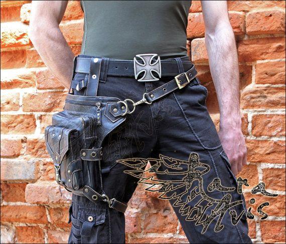 Leather Hip Bag Pandora By Fantasyleathercraft On Etsy