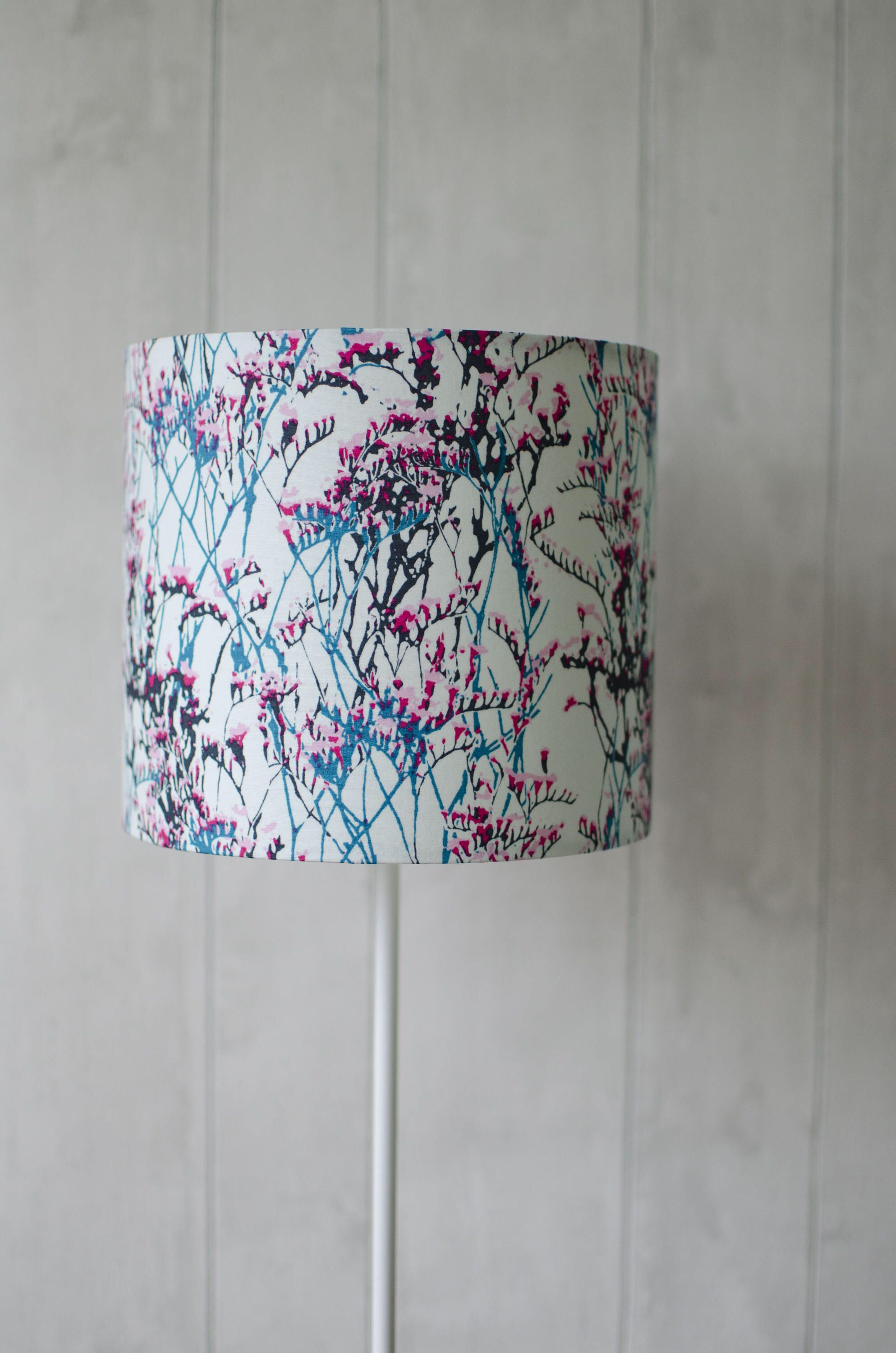 Contemporary floral lampshade blue home decor bedside lamp blue contemporary floral lampshade blue home decor bedside lamp blue table lamp handmade mozeypictures Gallery