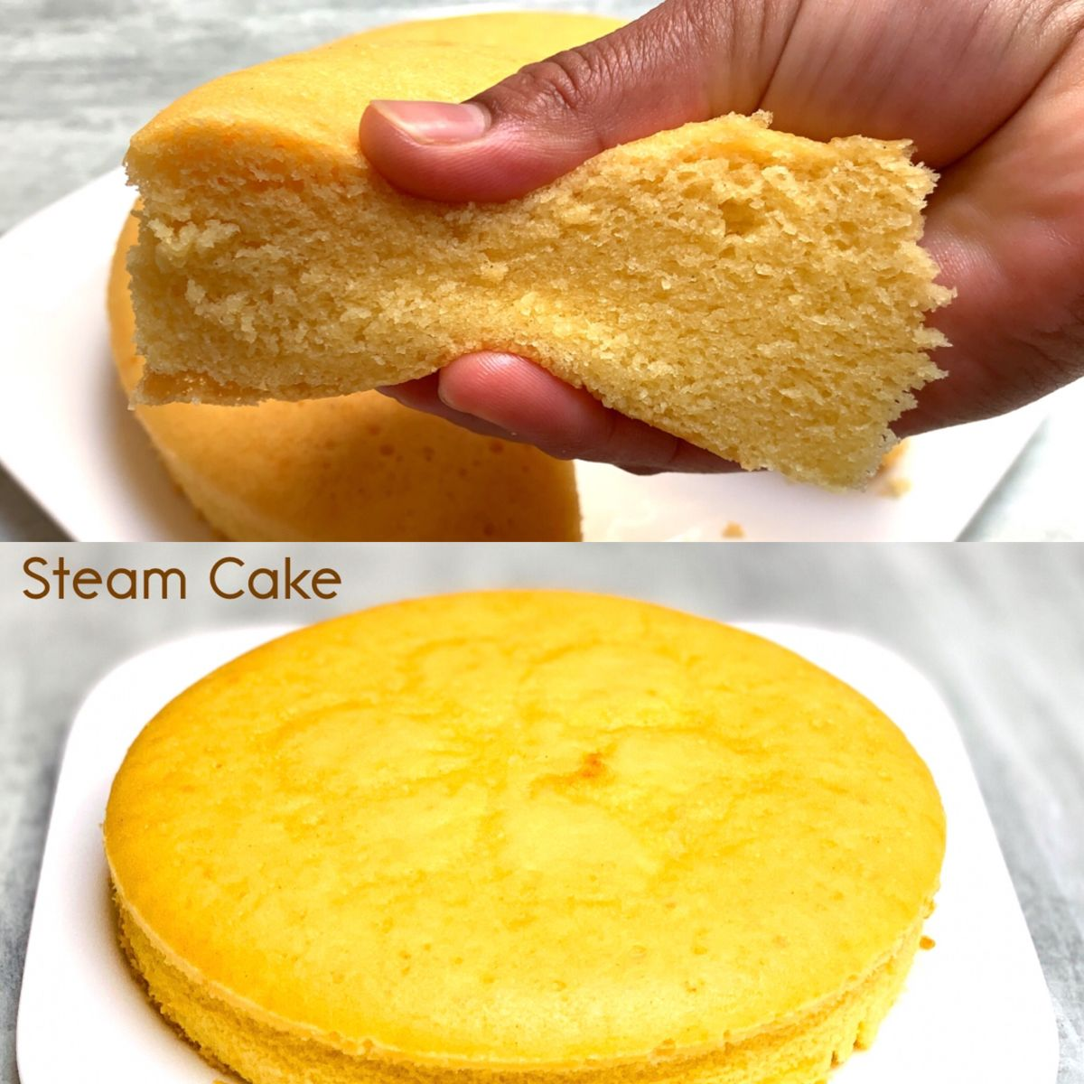 Steam Cake Or Steamed Condensed Milk Cake In 2020 Steamed Cake Steam Cake Recipe Condensed Milk Cake