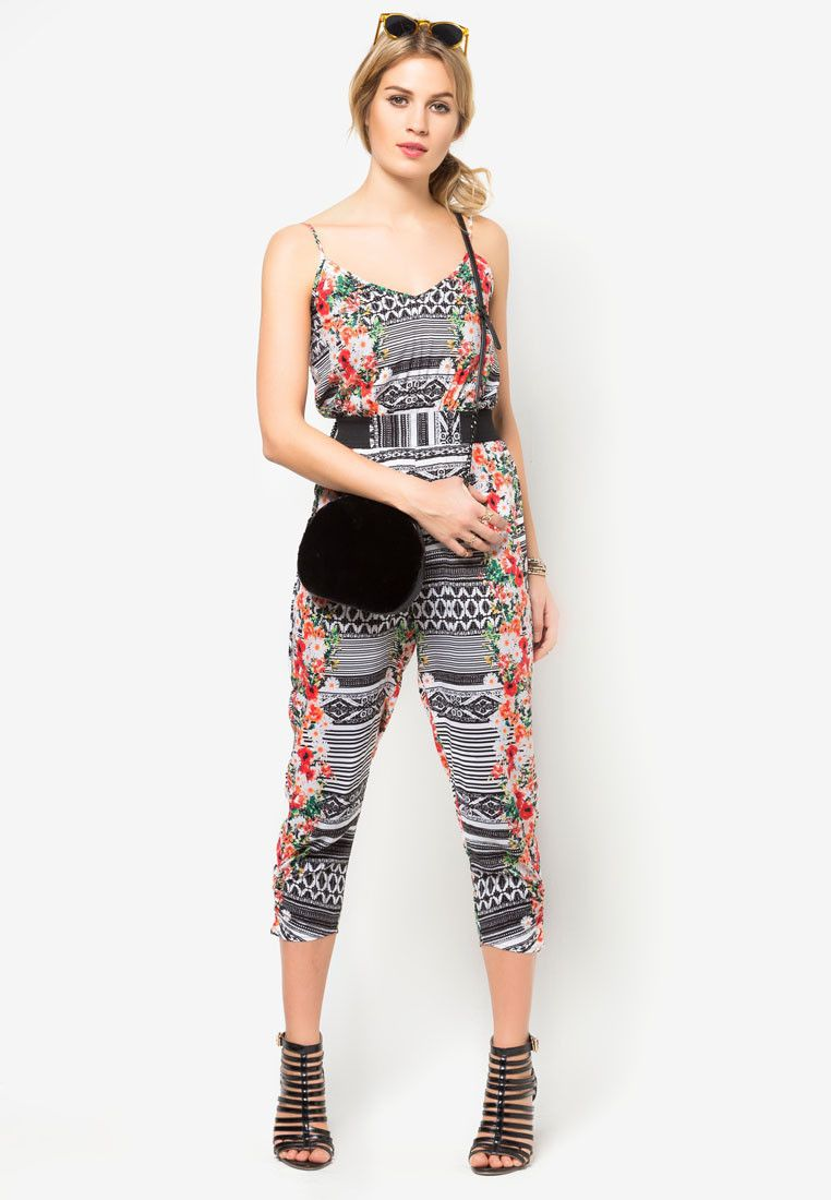 59b88ad6228f64 Tribal Floral Elastic Jumpsuit - Material Girl - Buy Online at ZALORA PH