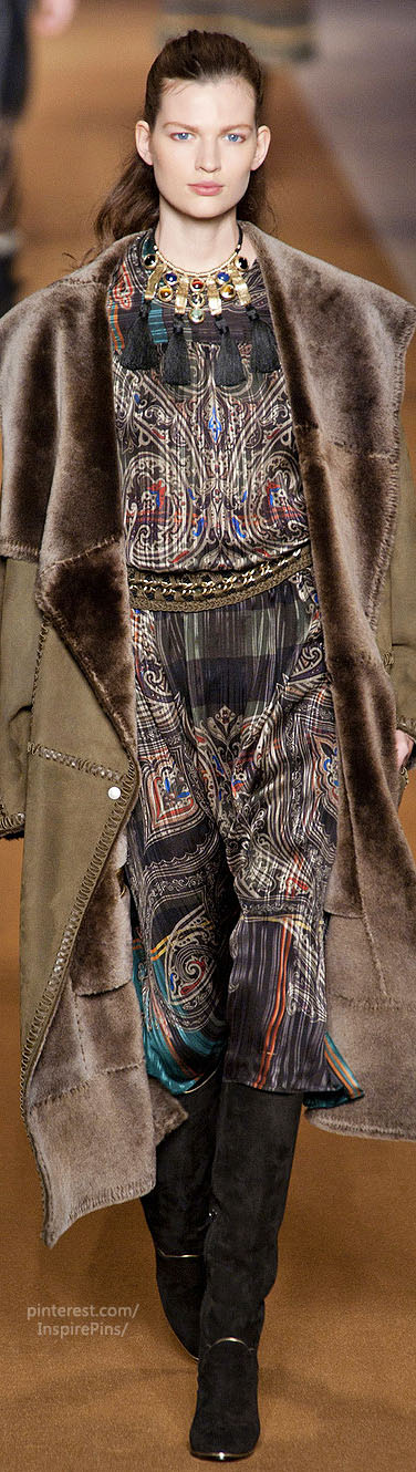 Fall 2014 RTW Etro Collection...very art nouveau