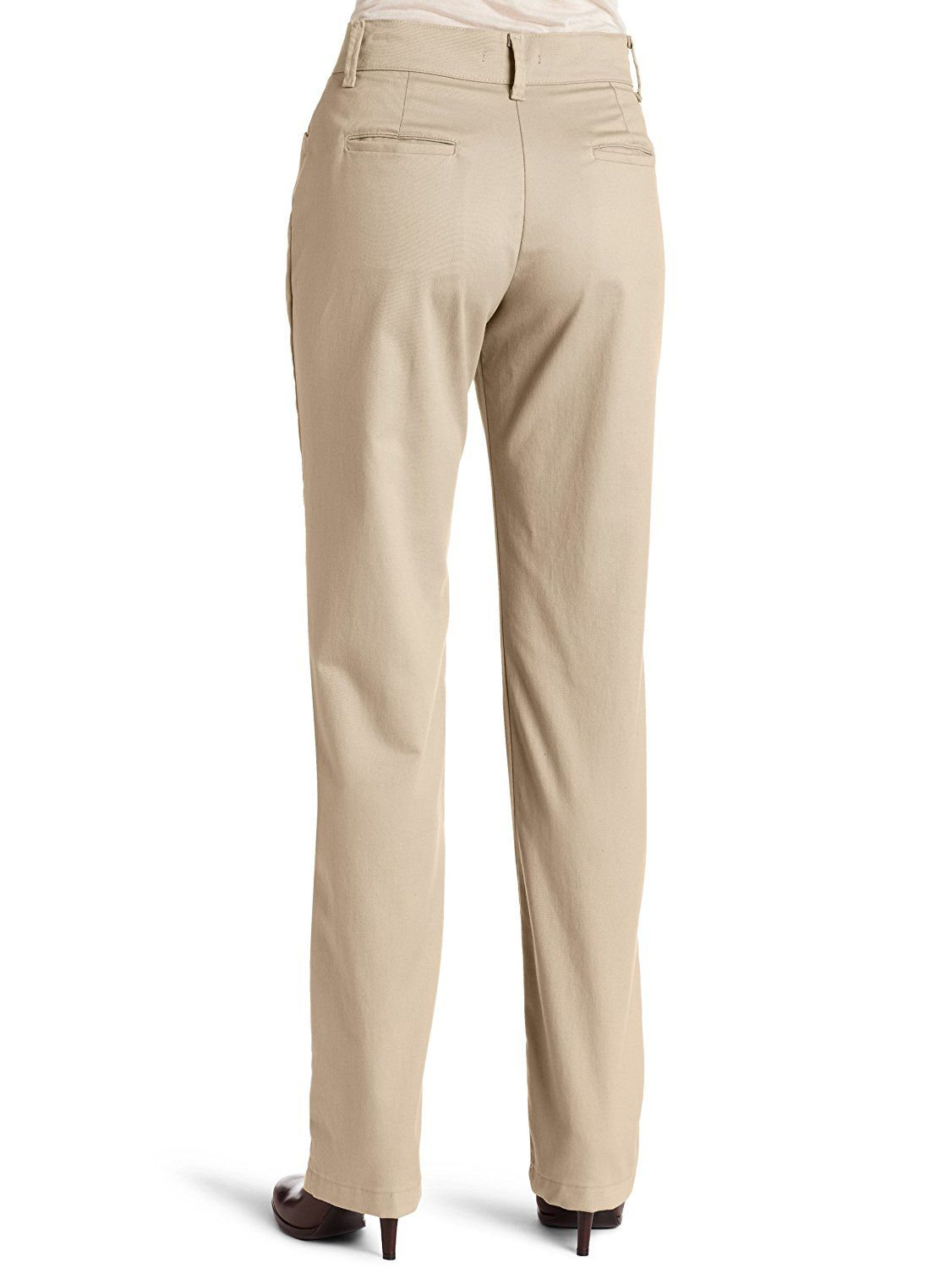 Lee womens relaxed fit plain front straight leg pant