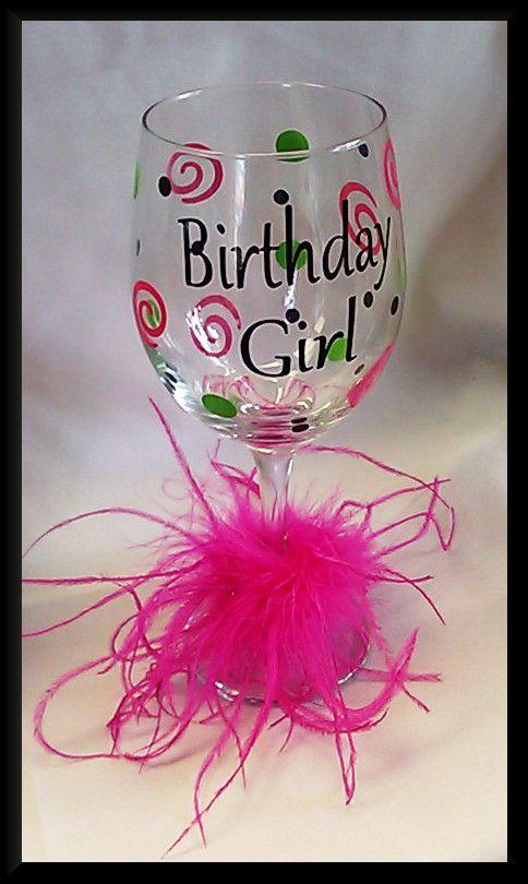 Wine Glass-Birthday  www.annieks.com