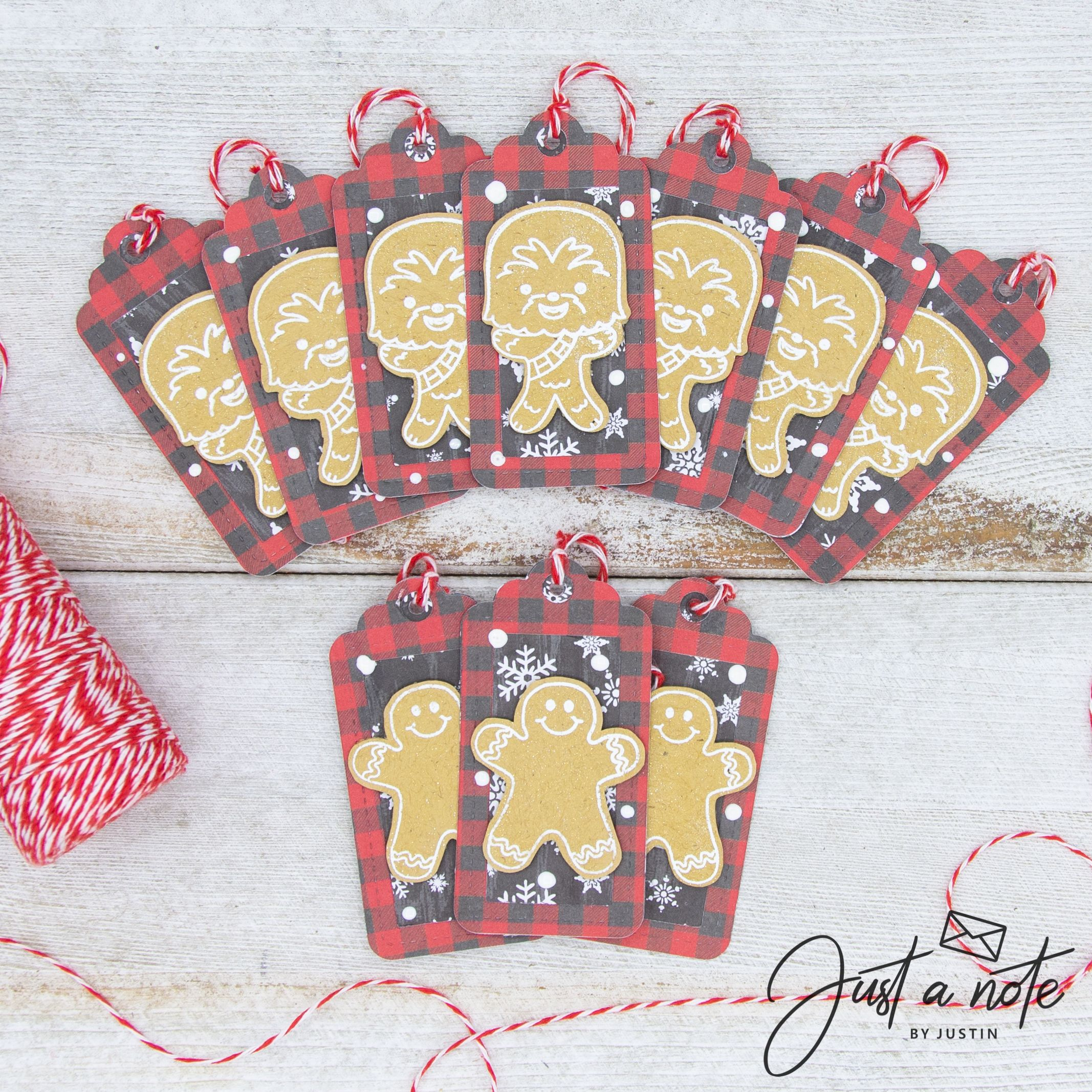No Coloring Gingerbread T Tags