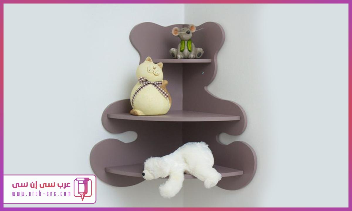 عرب سي إن سي Arab Cnc ارفف زاوية على شكل دب جميلة جدا ومناسبة لغرف الأطف Kids Room Decor Corner Shelves