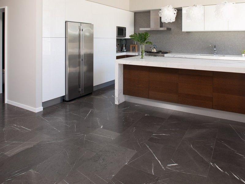 Pietra Grey Kitchen Floor Application Grey marble floor