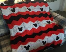 Image Result For Mickey Mouse Crocheted Blanket Afghan Squares Dekens Baby