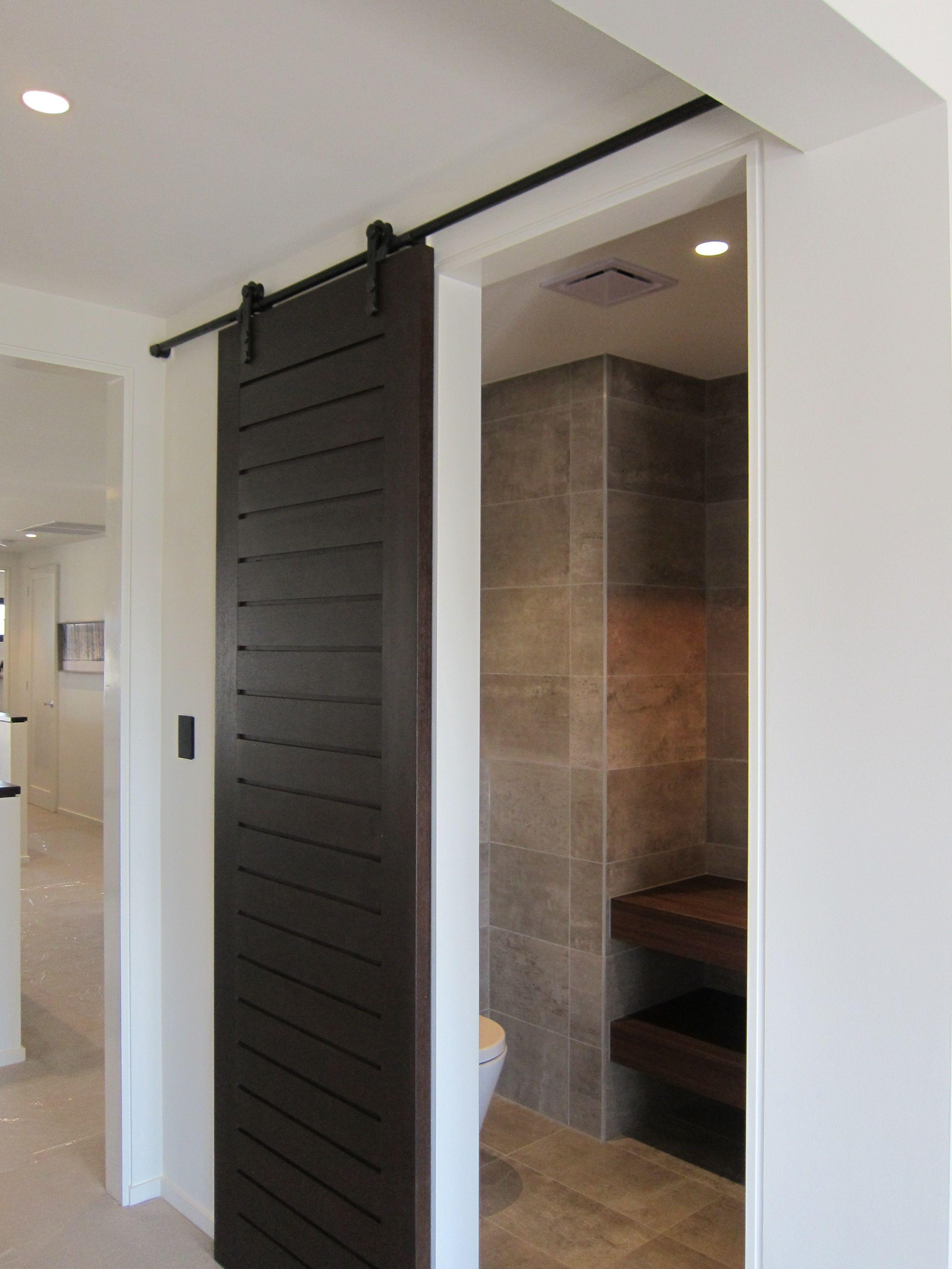 Barn Door to the powder room! Gorgeous. Henley Properties/Plantation Homes Queensland & Barn Door to the powder room! Gorgeous. Henley Properties/Plantation ...